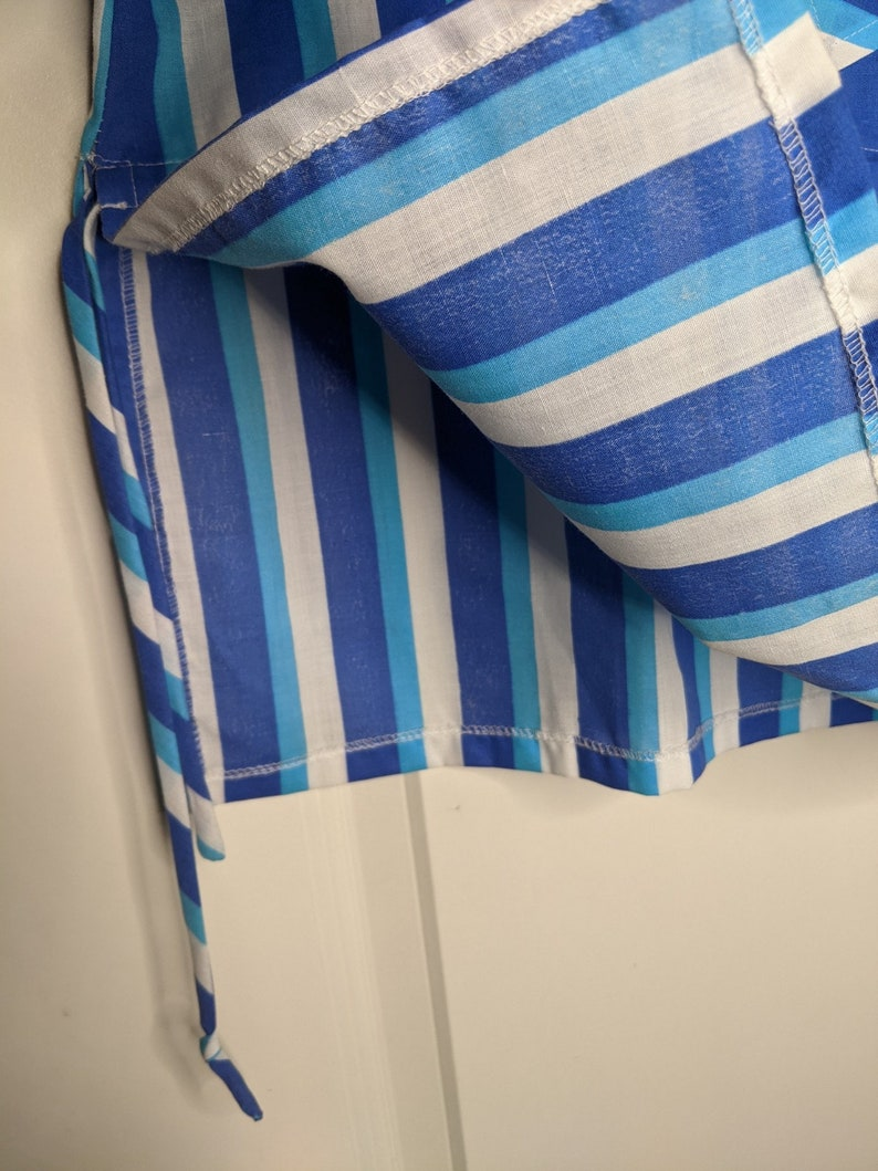 Vintage Kjerstin Henriksg\u00e5rd Design BlueWhite stripes Blouse Shirt Made in Sweden size 42