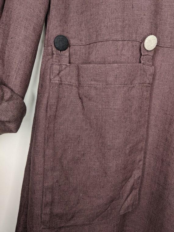 Vintage OLARS ULLA Sweden Long Sleeve Linen Dress