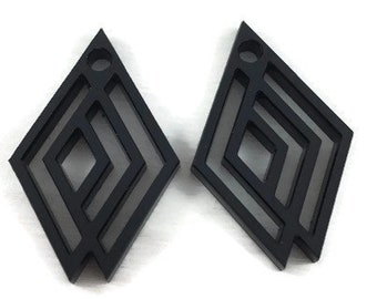 Triangles, Unique Earring Blanks, Acrylic earrings, dangle earrings, bulk earring blanks, bulk earrings, fun earrings, geometric earrings,