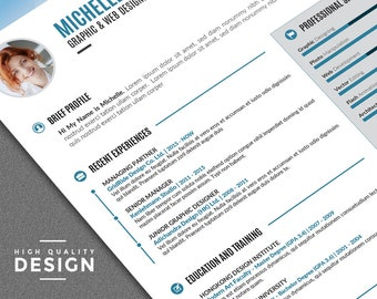 Modern Resume Template / Creative CV Template | Mac and PC | Word Resume with 3 Header Options. Professional Word Resume + Free Cover Letter