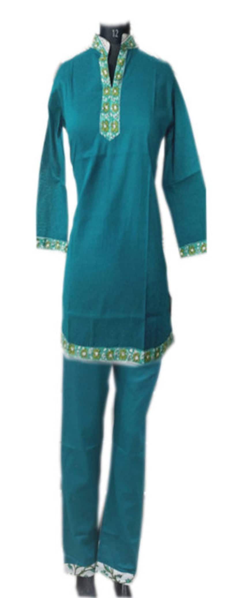 Tunic Kurti Blouse bocho clothe.we use only natural fabrics to give you comfort and style. Women kurti and pyjama with block printed boder