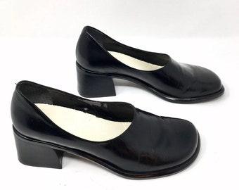 c189e9ef865 Vtg 90s Franco Sarto Heeled Loafers 7M