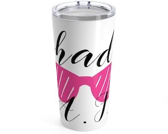Shady Af Tumbler 20 Oz, stainless, vacuum insulated, tumbler, yeti, kitchen, Drink, barware, lowball tumbler, stainless steel mug
