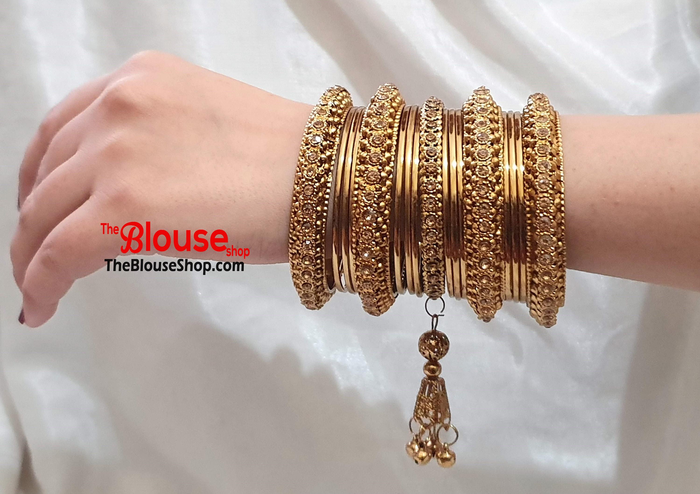 Indian Bangles Gold Bangles Bangle Set Gold Plated New Indian bracelet  Bollywood bangles |DESIGN 20 | Free UK Shipping