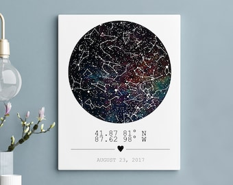 Star Map Print Custom Personalized boyfriend Gift Constellation Custom Star Map Night Sky Map Custom Sky Map Poster Star Map Custom 10