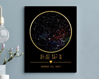 Star Map Print Custom Personalized boyfriend Gift Constellation Custom Star Map Night Sky Map Custom Sky Map Poster Star Map Custom 10G