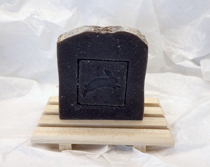 Featured listing image: Sweet Blue Spruce Soap with Poppy Seeds | Homemade Vegan Soap | Vanilla Soap | Spruce Soap | Soap for Men