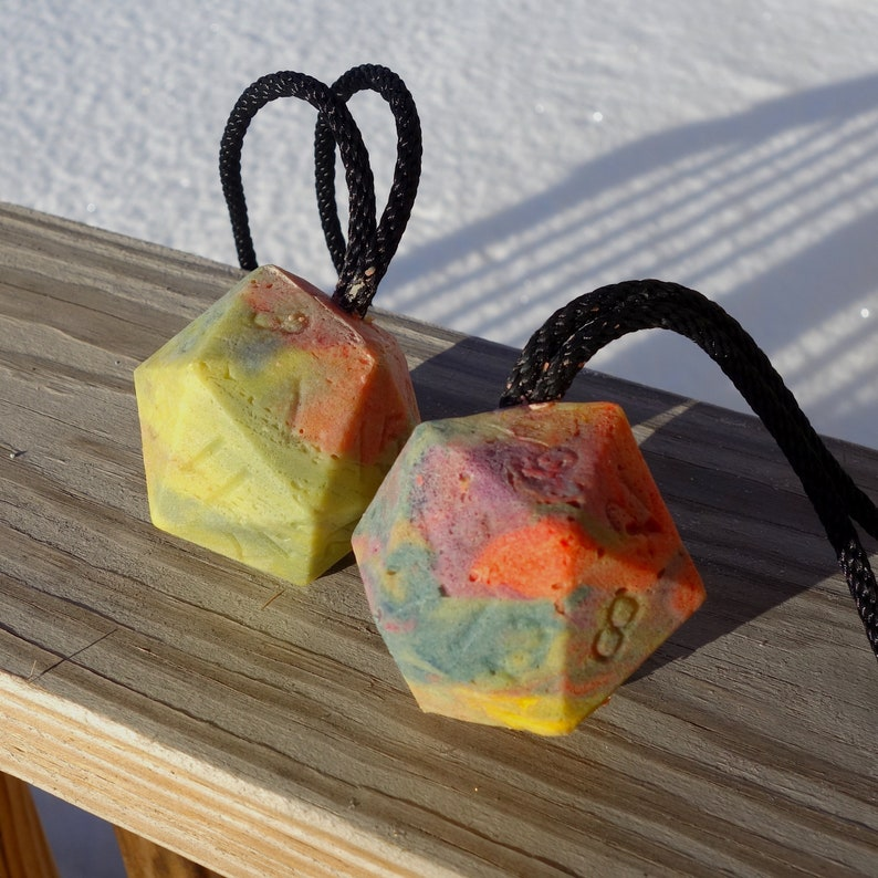 dSOAPY  Rainbow Dice Soap on a Rope   DnD Soap  Homemade image 0