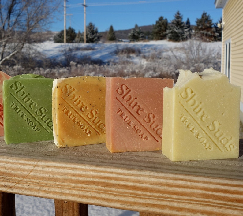 Homemade Vegan Soap x4  Soap Gift Pack  White Elephant Gifts image 0
