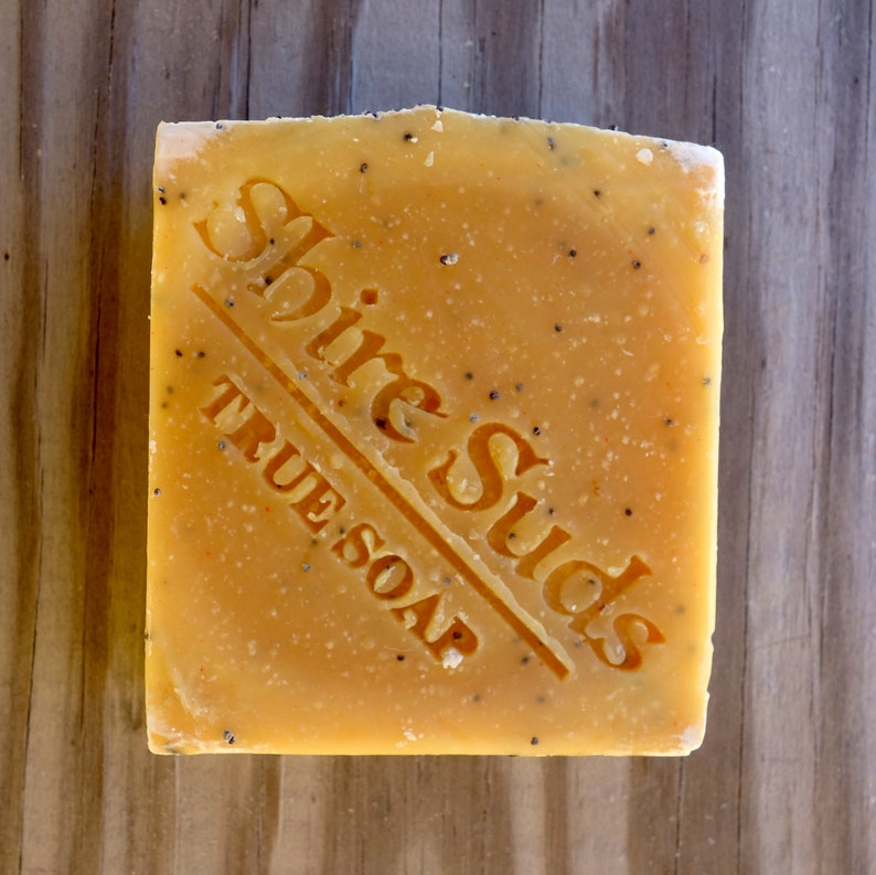 Orange Body Scrub Soap  Homemade Vegan Soap  Citrus Soap  image 0