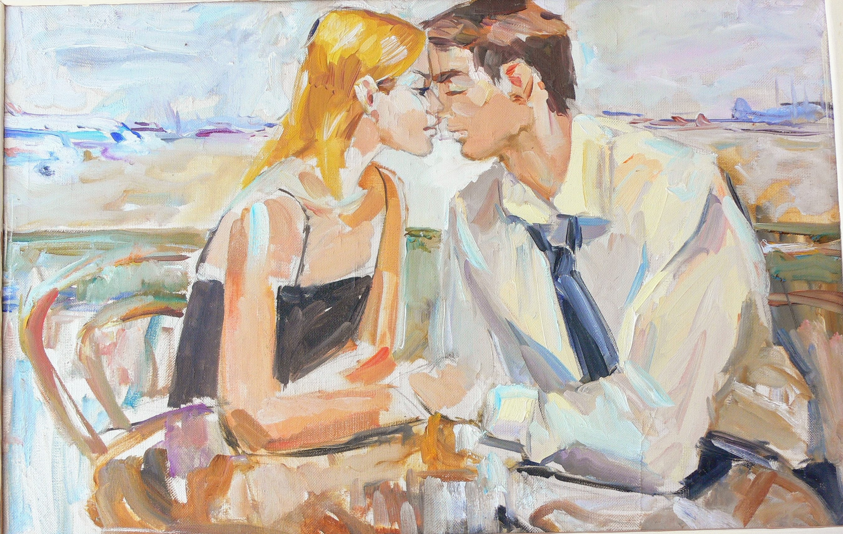 zoom Romantic Couple Love painting pictures Modern