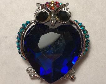 Sapphire Owl Needle Minder