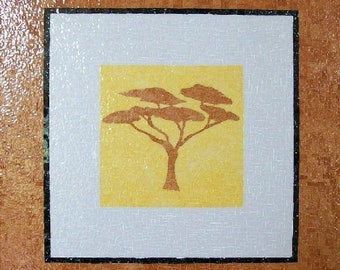 Mosaic painting in Briare ems - Tree - Africa