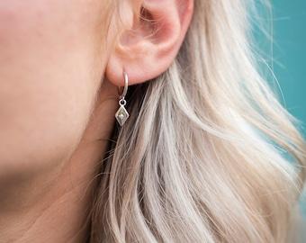 Minimalist real silver earrings