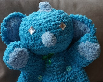 Hand puppets, hot water bottle cover, cuddly dragon