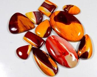 Loose Semi Precious Pear Shape Jewellery Making AG-13372 Natural Mookaite Jasper Cabochon Size 31x17x5.5 MM Stone For Pendant Flat Back