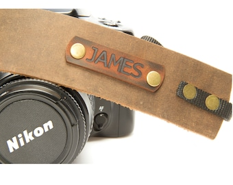 Camera strap unique personalized leather gift