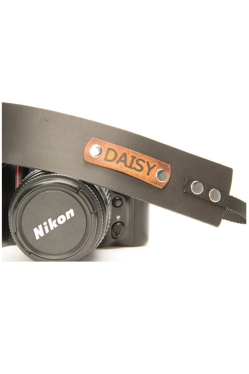 Camera strap unique personalized leather gift