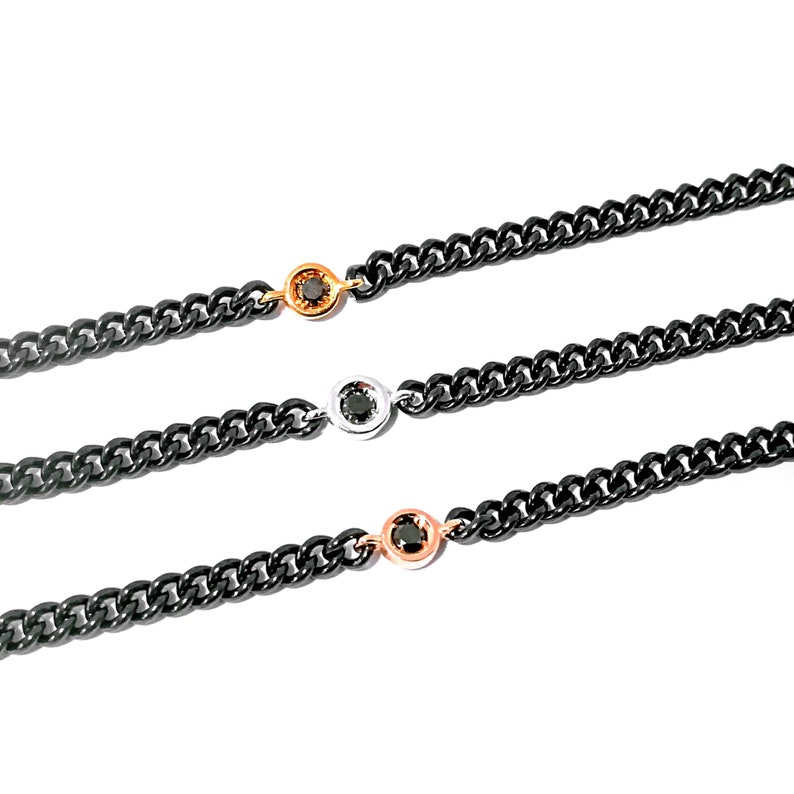 Black diamond bracelet mens bracelet