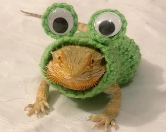 Crocheted Adult Frog bearded dragon costume | bearded dragon costume | bearded dragon clothing