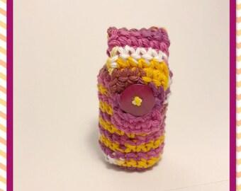 Crocheted poop bag holder   waste bag dispenser   poop bag holder