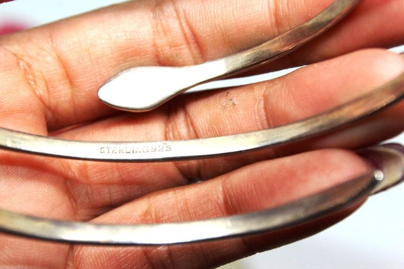 Antique VICTORIAN Sterling Silver Snake Bypass Arm Bracelet 29g FBR
