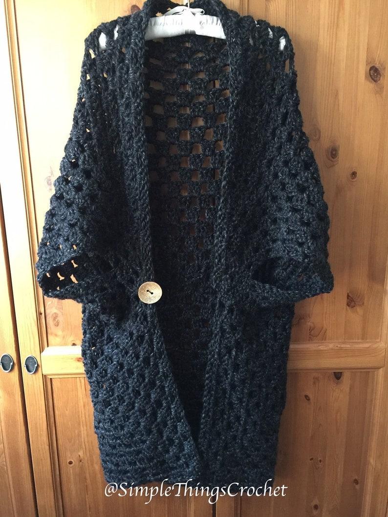 Easy Crochet Sweater Pattern For Women Simple Cardigan Etsy