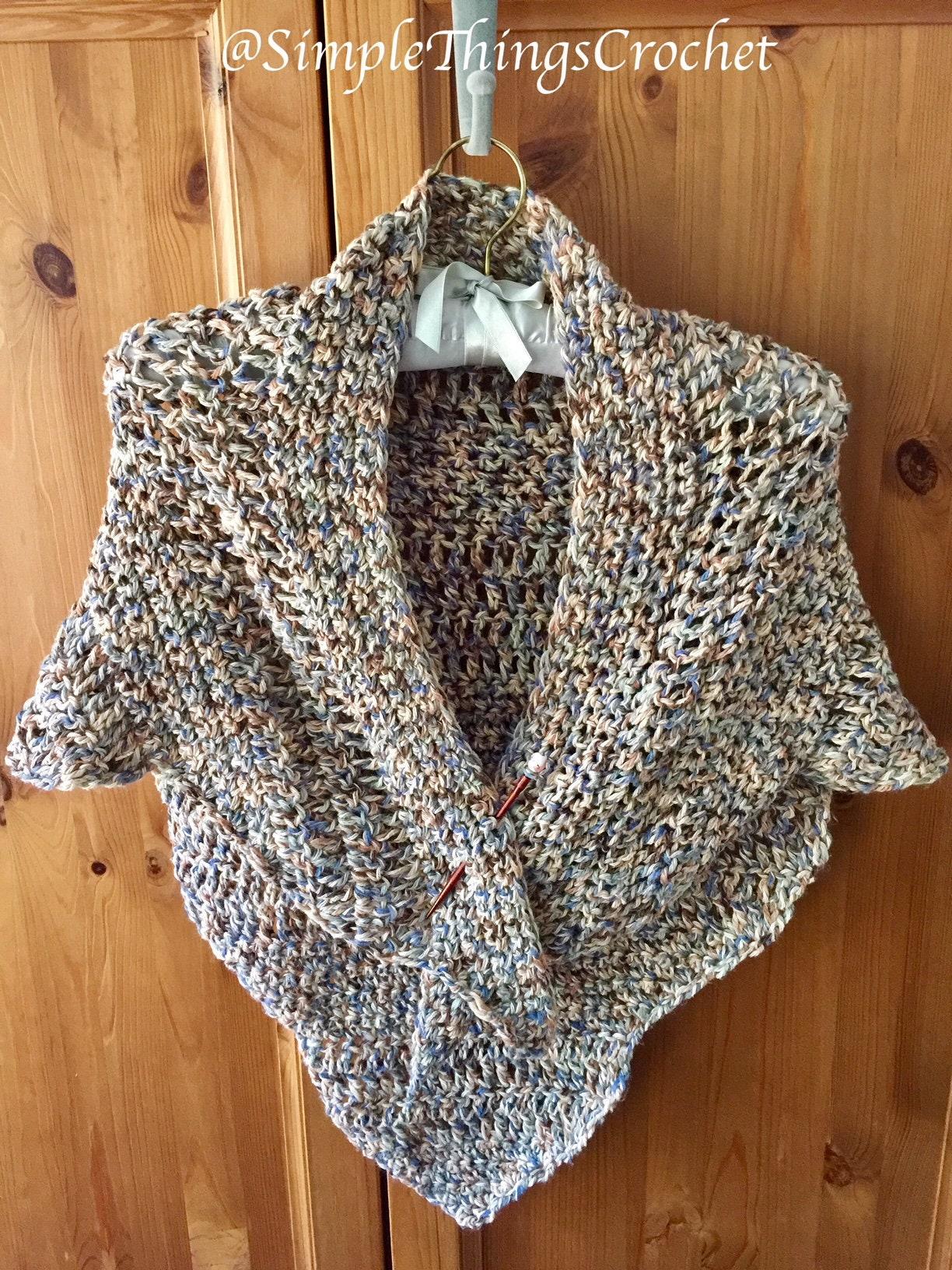 Easy Crochet Shawl Pattern Simple Crochet Shawl Pattern Etsy
