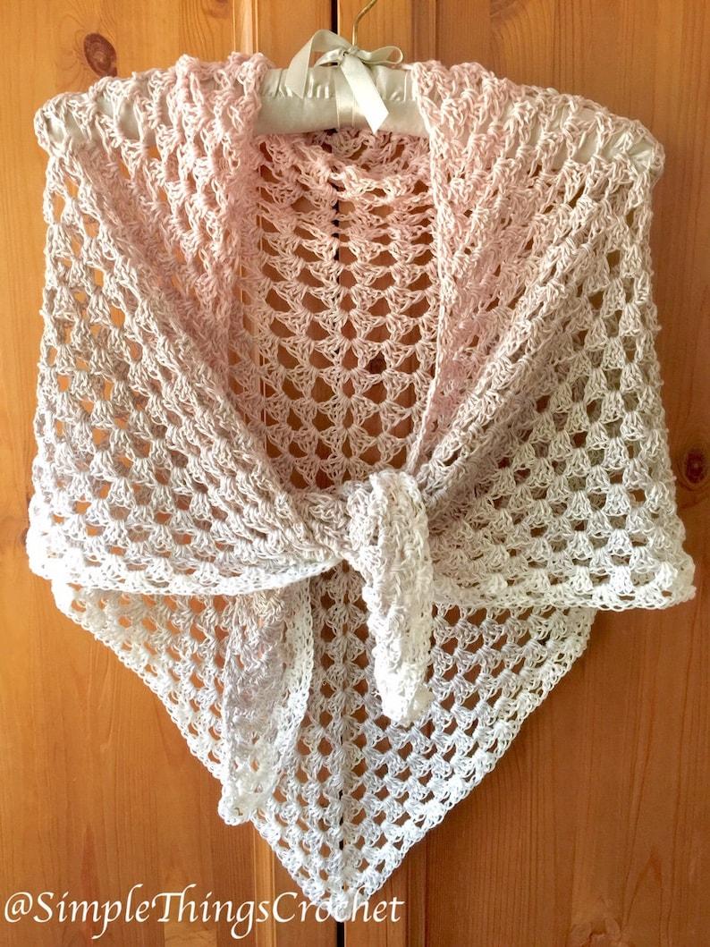 Crochet Triangle Shawl Pattern, Granny Triangle Shawl, Women's Crochet  Wrap, Crochet Scarf, Bridal Shawl Pattern, Crochet Cowl Pattern