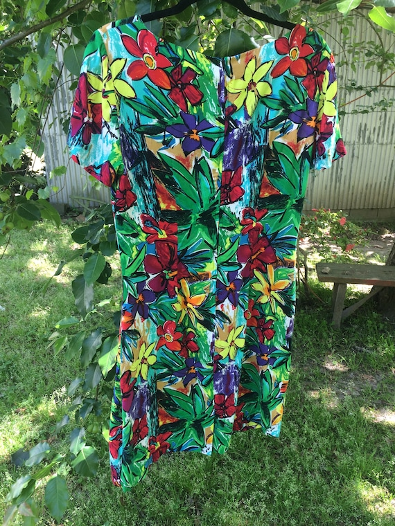 Rayon Summer Flower Frock - image 2