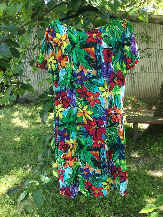 Rayon Summer Flower Frock - image 1