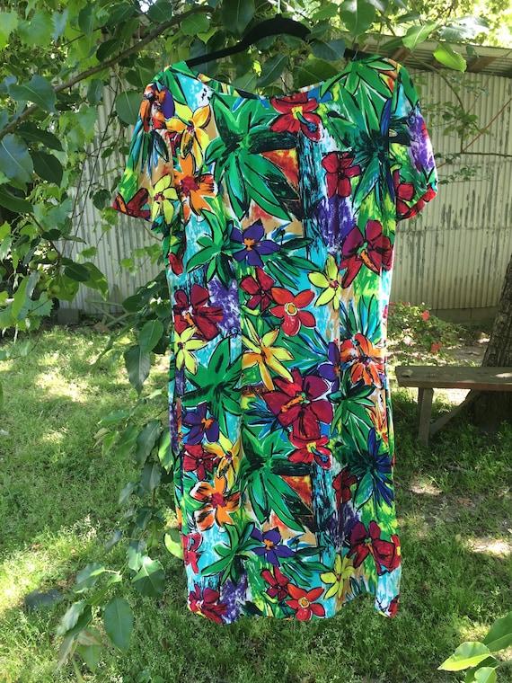 Rayon Summer Flower Frock