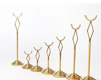 Table Number Holder | Menu Card Holder | Wedding Table Number Card Holder | Guest List Clip | Gold theme Wedding