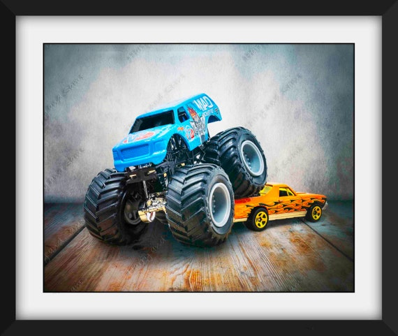 Monster Trucks Monster Truck Print Monster Truck Poster Toy Etsy