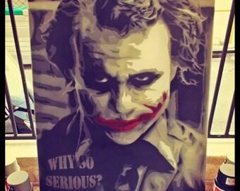 Joker / stencil art / canvas