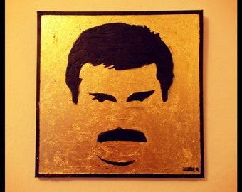 Freddie Mercuri / canvas / 3D stencil