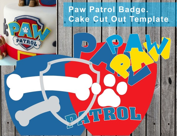 Paw Patrol Logo Easy Cake Cut Out Template