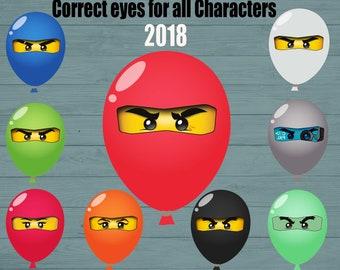 Ninja eyes - Correct eyes for all Characters - 9 SETS