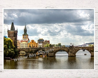 Travel Photography Charles Bridge Prague Charles Bridges City Landscape Prints Architecture Landscape Photography City Photographs Bridges