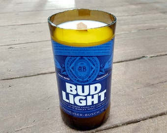 Bud Light - Citronella - Soy Wax Beer Bottle Candle