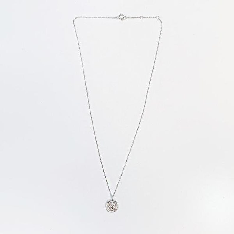 Antique Coin Simple Necklace 92.5 Sterling Silver