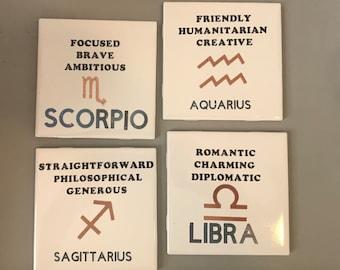 Zodiac Sign Coaster
