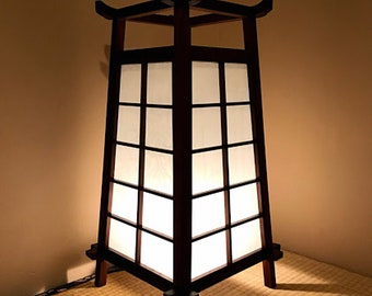 Traditional Style Japanese Hardwood Lamp
