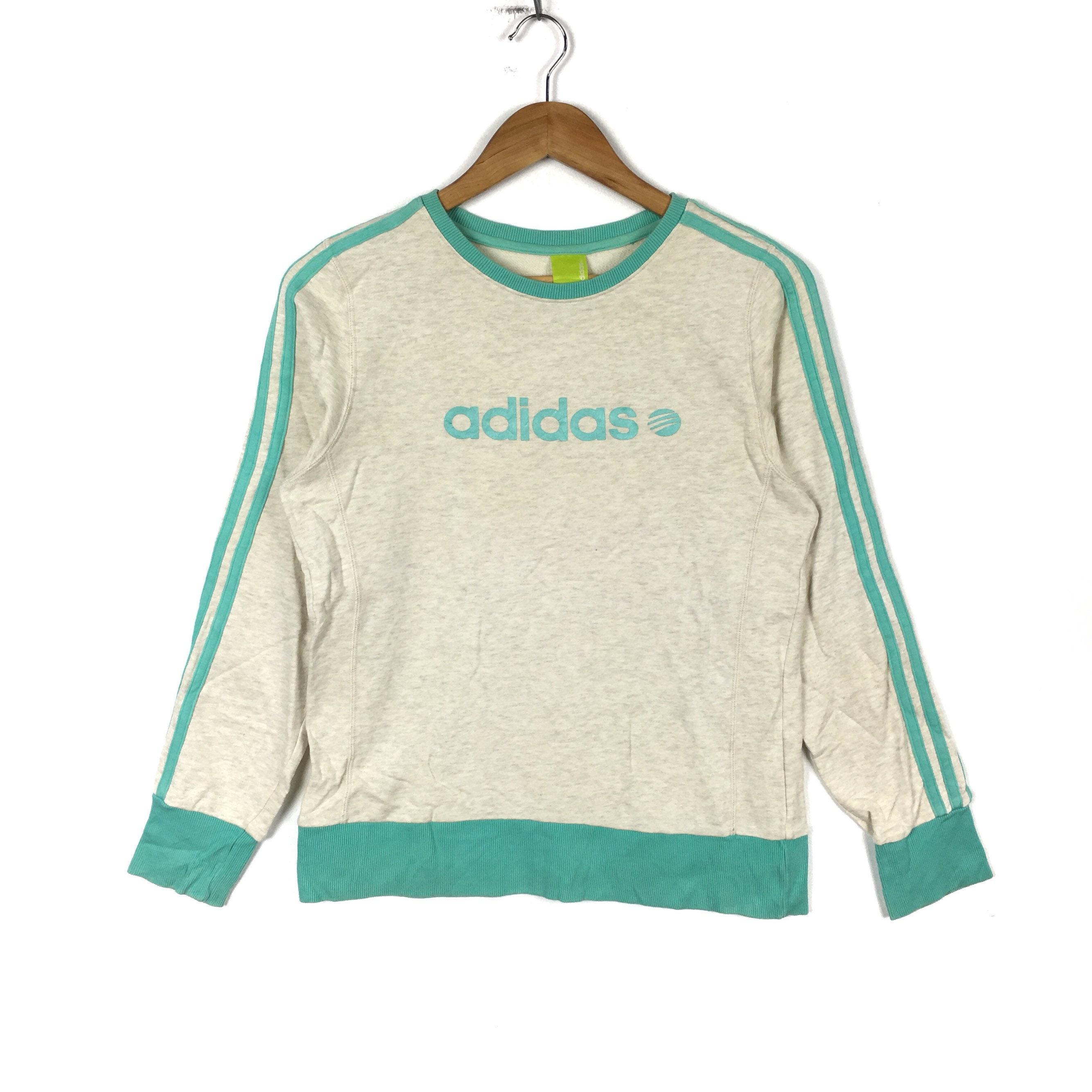 55152d7c2b8eb ADIDAS EQUIPMENT Stripes White Colour Pullover Sweatshirt | Etsy