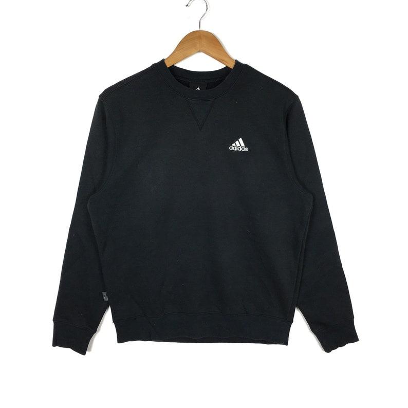 fe06895215acb ADIDAS EQUIPMENT Stripes Black Pullover Sweatshirt Medium Size | Etsy