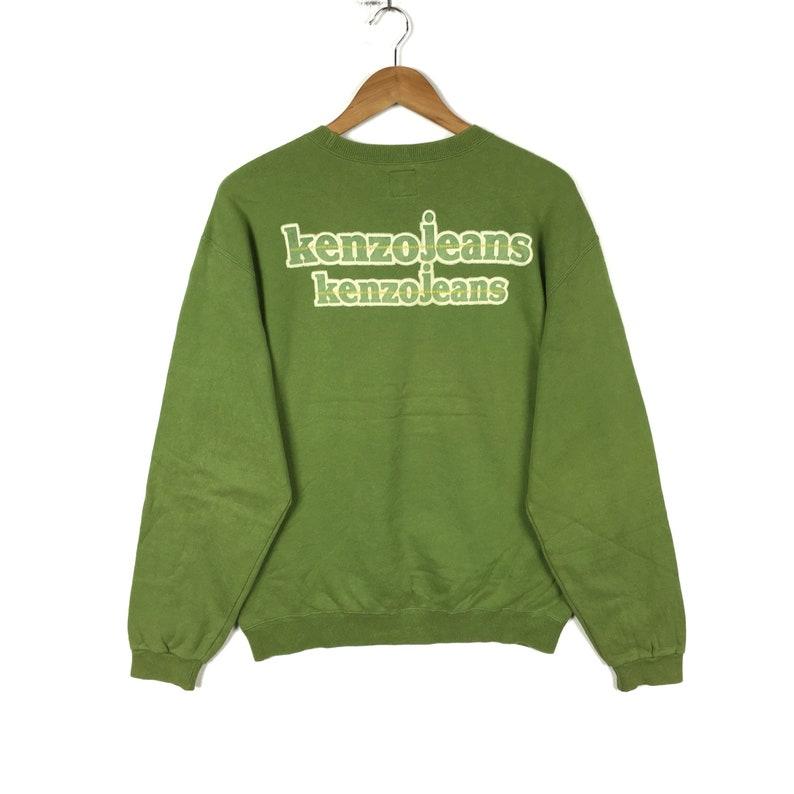 6713c0947 Vintage KENZO JEANS PARIS Green Pullover Sweatshirt Free Size | Etsy