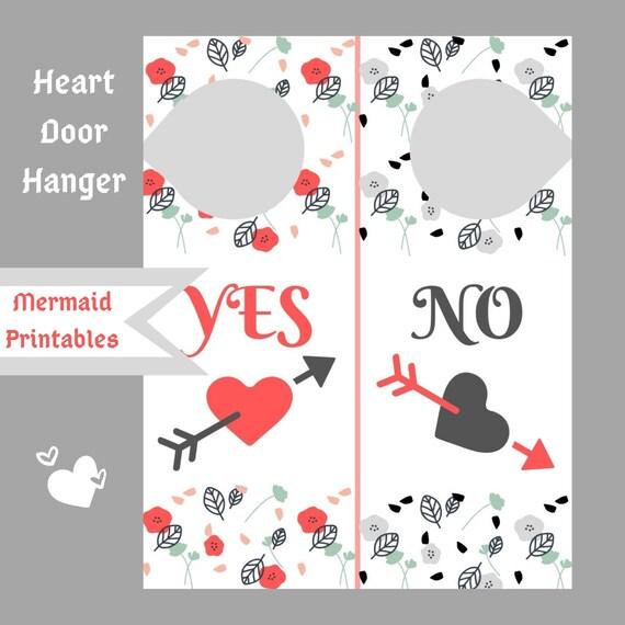 Heart Door Hanger Sign Wall Decor Love Door Hanger Digital Download Decor Decoration Door Sign DIY Wood Metal Card Stock Bed and Breakfast