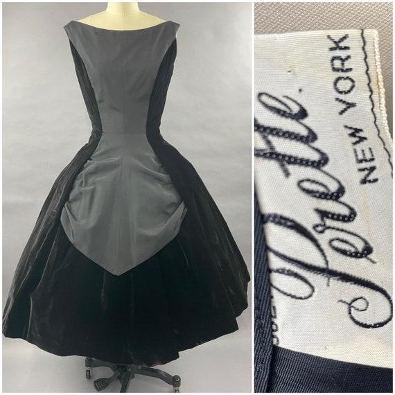1950s Velvet Suzy Perette Party Dress Size S