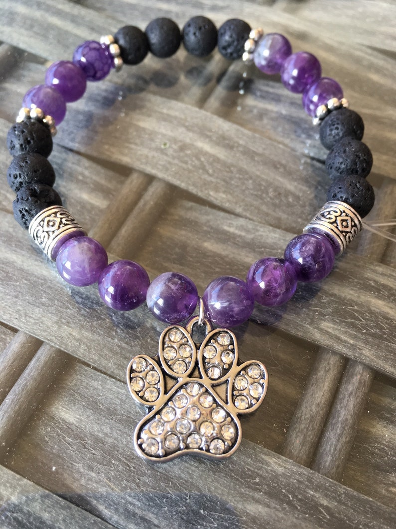 Lava Stone Diffuser Bracelet Aromatherapy bracelet Womens Lava Rock Bracelet Yoga Diffuser Jewelry Amethyst Essential oil diffuser bracelet