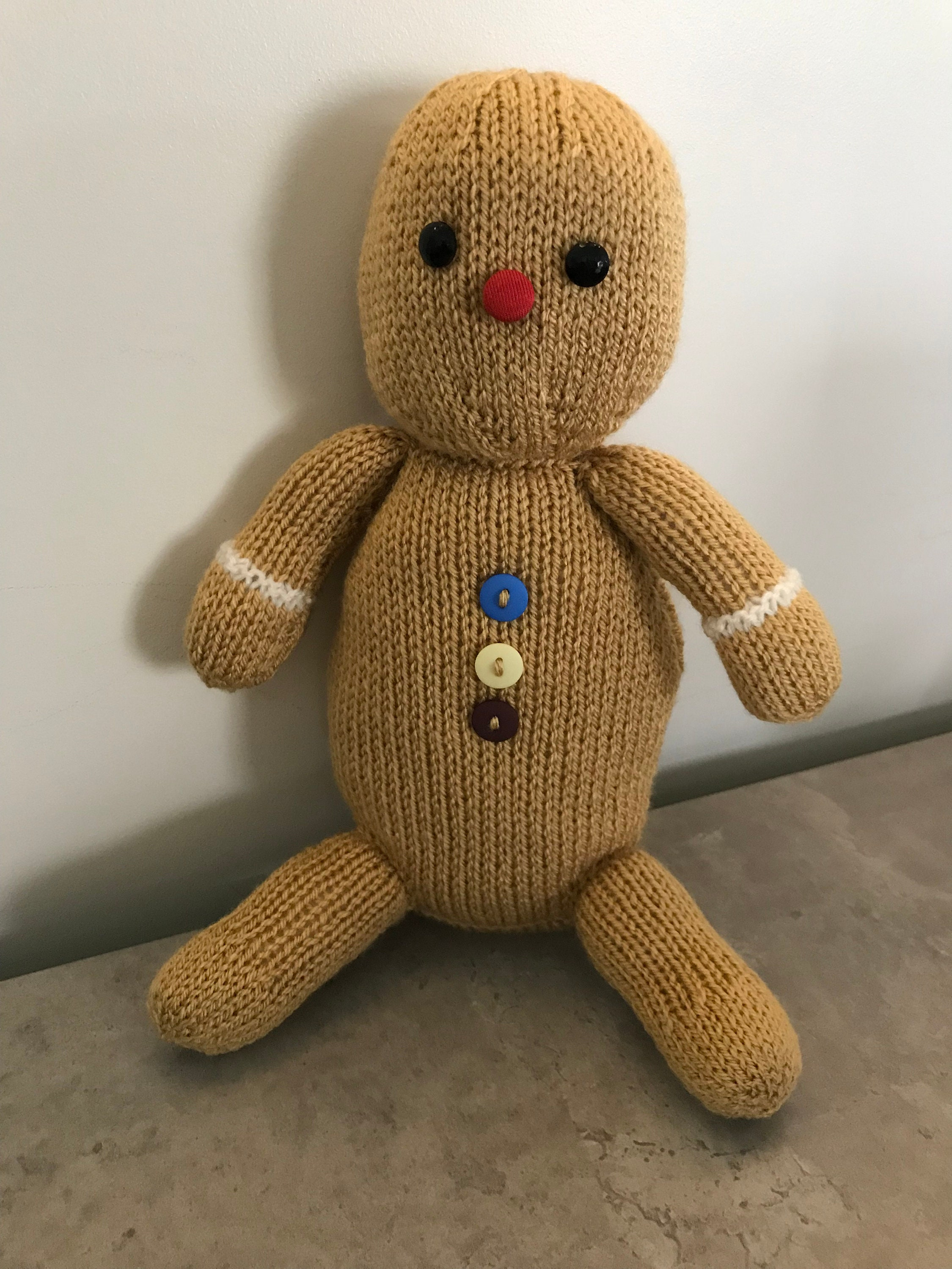 George The Gingerbread Man Plush Stuffed Toy Handmade Toy Etsy